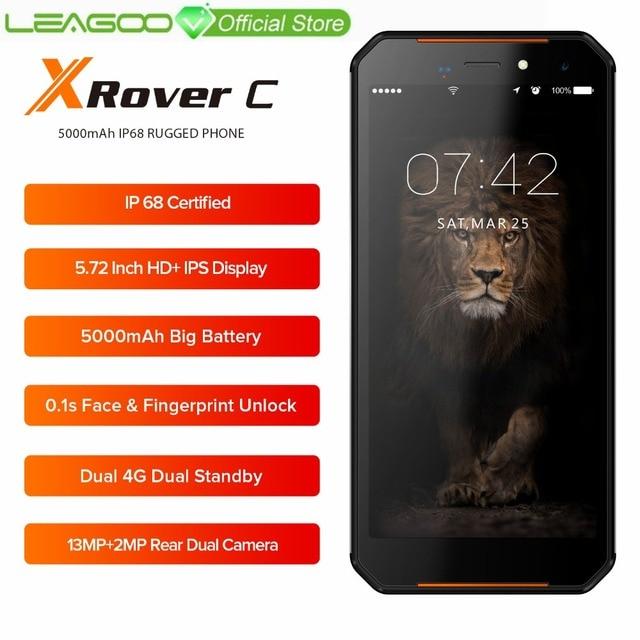"""LEAGOO XRover C IP68 NFC Смартфон 5,72 """"ips 4 ядра 2 GB 16 GB 13MP двойной камеры 5000 mAh отпечаток лица разблокировать 4G мобильный телефон"""