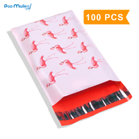 100pcs 15x23cm 6x9 Inch Flamingo Pattern Poly Mailers Self Seal Plastic Mailing Envelope Bags
