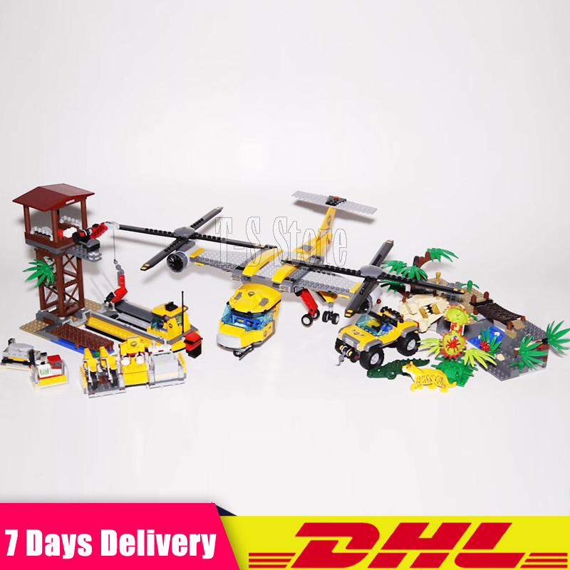 DHL IN Stock 2018  LEPIN 02085 The Jungle Air Drop Helicopter Compatible 60162 Building Blocks Children Educational Bricks Toys dhl lepin 18032 2932 pcs the mountain cave my worlds model building kit blocks bricks children toys clone21137 in stock