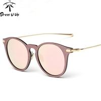 BFORTUNE 2016 Retro Sunglasses Women Brand Designer Vintage Wood Grain Alloy Frame Sun Glasses Oculos De