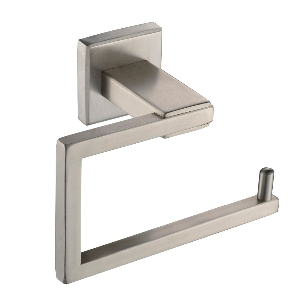 304 stainless steel square brushed wall mount toilet paper holder roll bathroom storage - Wall Mount Toilet