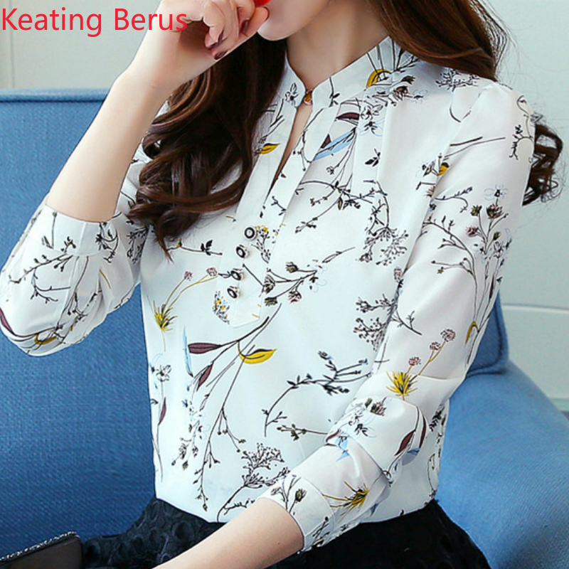 Womens Floral Shirts Ladies Blouse Tops Shirt