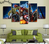 Diamond Painting Cross Stitch Kit 5D Square Diamond Mosaic Pasted Diamond Embroidery Home Decor Avengers 5pcs
