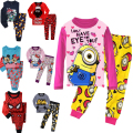 NEW 2017 boys nightwear girls family christmas pajamas cartoon kids pajama sets,children sleepwear toddler baby pyjamas 2t-7t