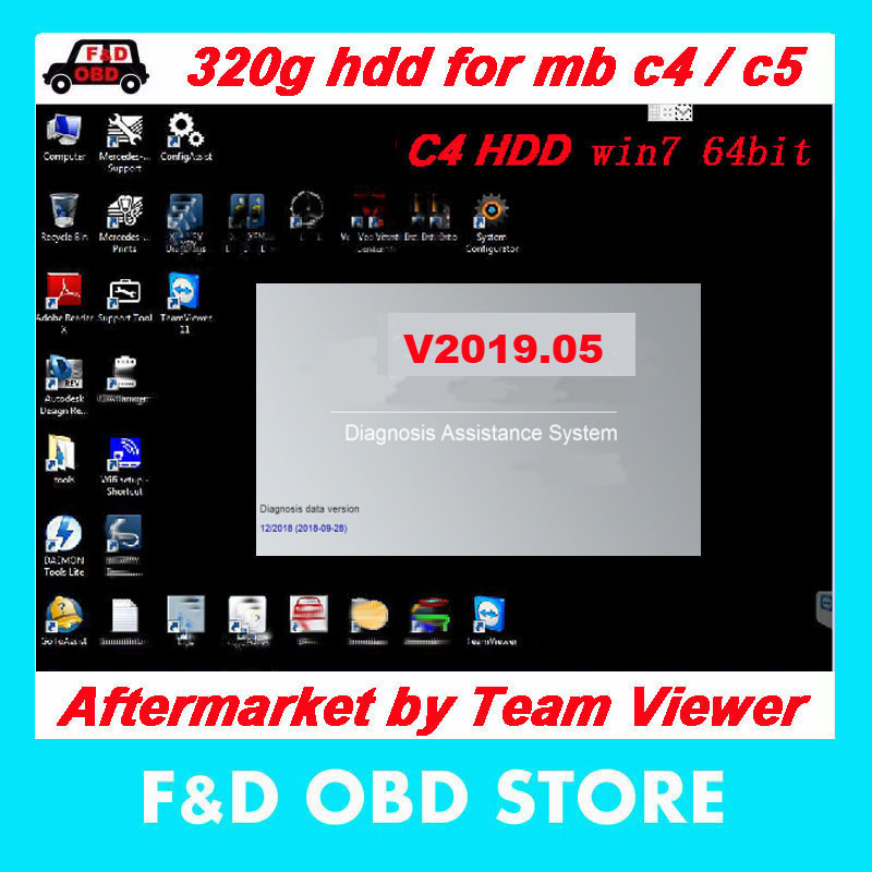 US $69 75 7% OFF|2019 07 MB STAR C4 HDD full Software Included XD ENTRY/D A  S/E P C/W IS/DTS Mo naco hard drive 320GB HDD SD C4 free shipping-in Car