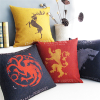 Power Of The Game US Drama Ice And Fire Song Pillow Cushion Cover Linen Pillow Case