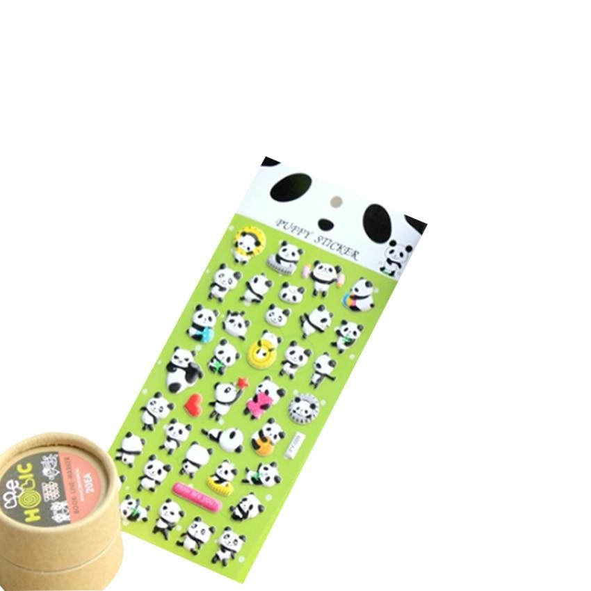 1pcs/lot Cute 3D Panda Sponge Sticker DIY Multifunction Sticker Decoration Stationery Stickers