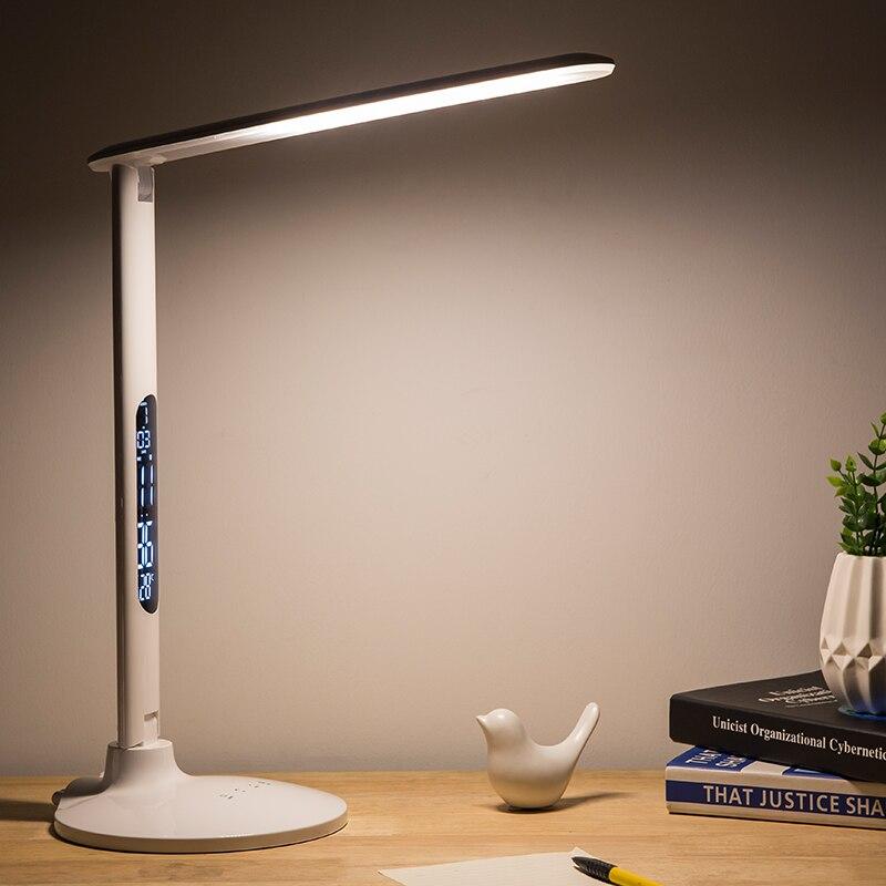 Универсальная настольная лампа 27 светодио дный Складная Настольная лампа сенсорная Затемняющая лампа для обучения работы офисная светоди...