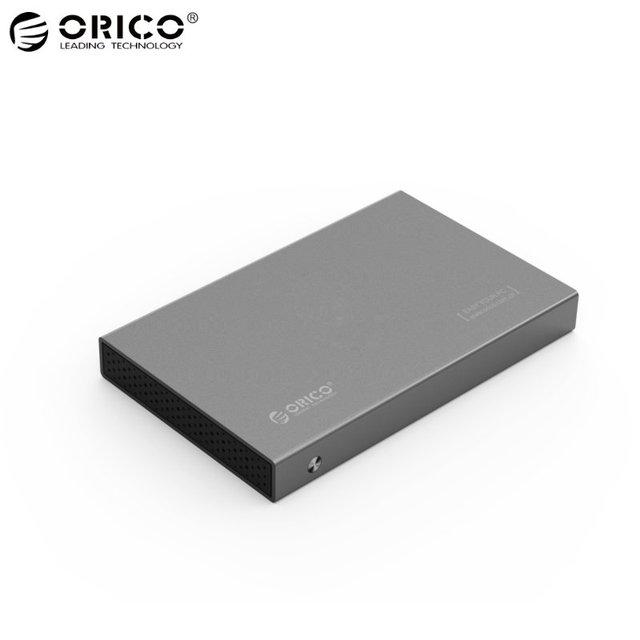 Original ORICO 2518S3 Alumínio 2.5 polegada Disco Rígido de Alta Velocidade Caso gabinete USB 3.0 Sata 3.0 SSD HDD Ferramenta Gratuita portátil