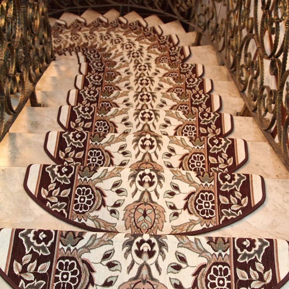yazi europenne floral non slip escaliers carpet auto adhsif tapis salon doux escalier escalier