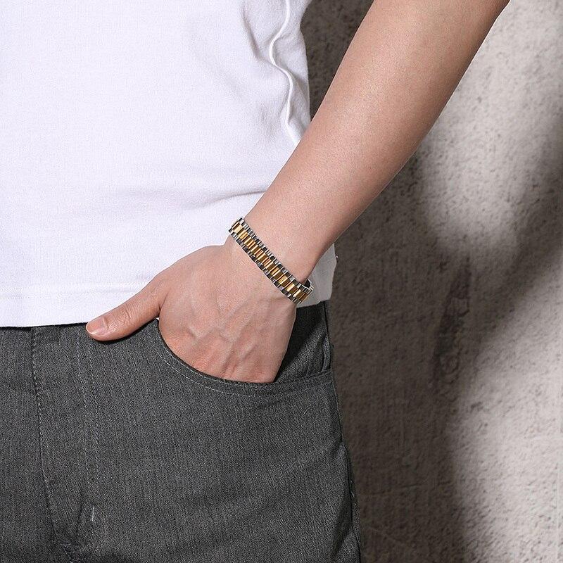 Vnox 24 Pcs Volle 99.99% Germanium Strap Uhr Design Armbänder Edelstahl Männer Schmuck-in Hologramm-Armbänder aus Schmuck und Accessoires bei  Gruppe 2