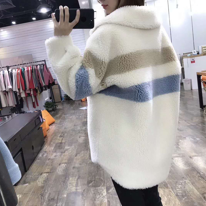 Nova moda preço real casaco de pele 2019 mulheres de inverno estilo do Teste padrão longo parka verdadeira pele gola turn dwon jaqueta casacos cor de rosa - 2