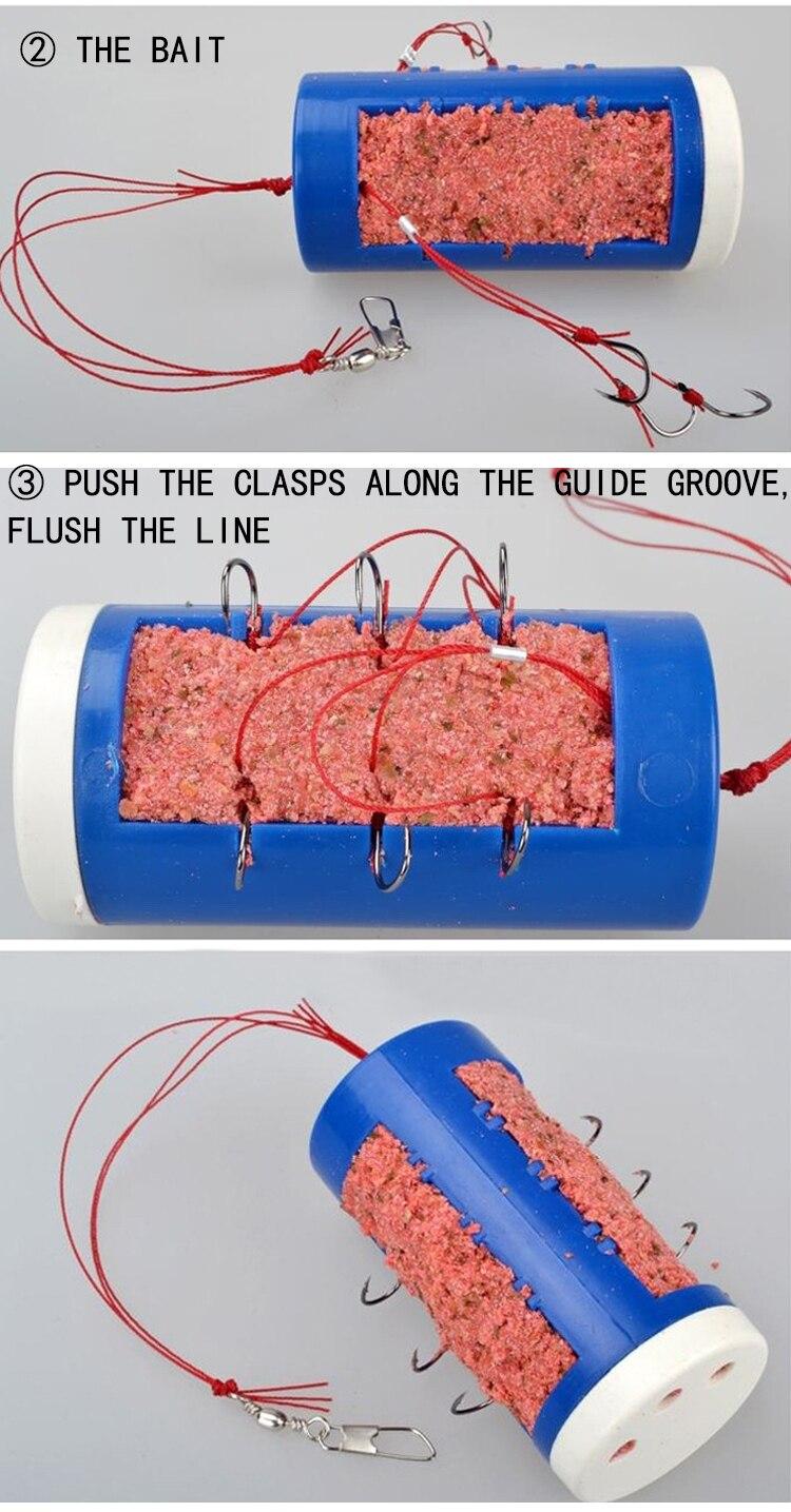 gancho explosão fishhooks aço carbono plástico caixa
