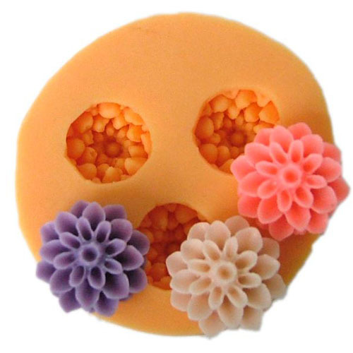 New 2015 3 hole flower Arylic Resin Flower silicone mold,fondant molds,sugar craft tools,chocolate mould, molds for cakes