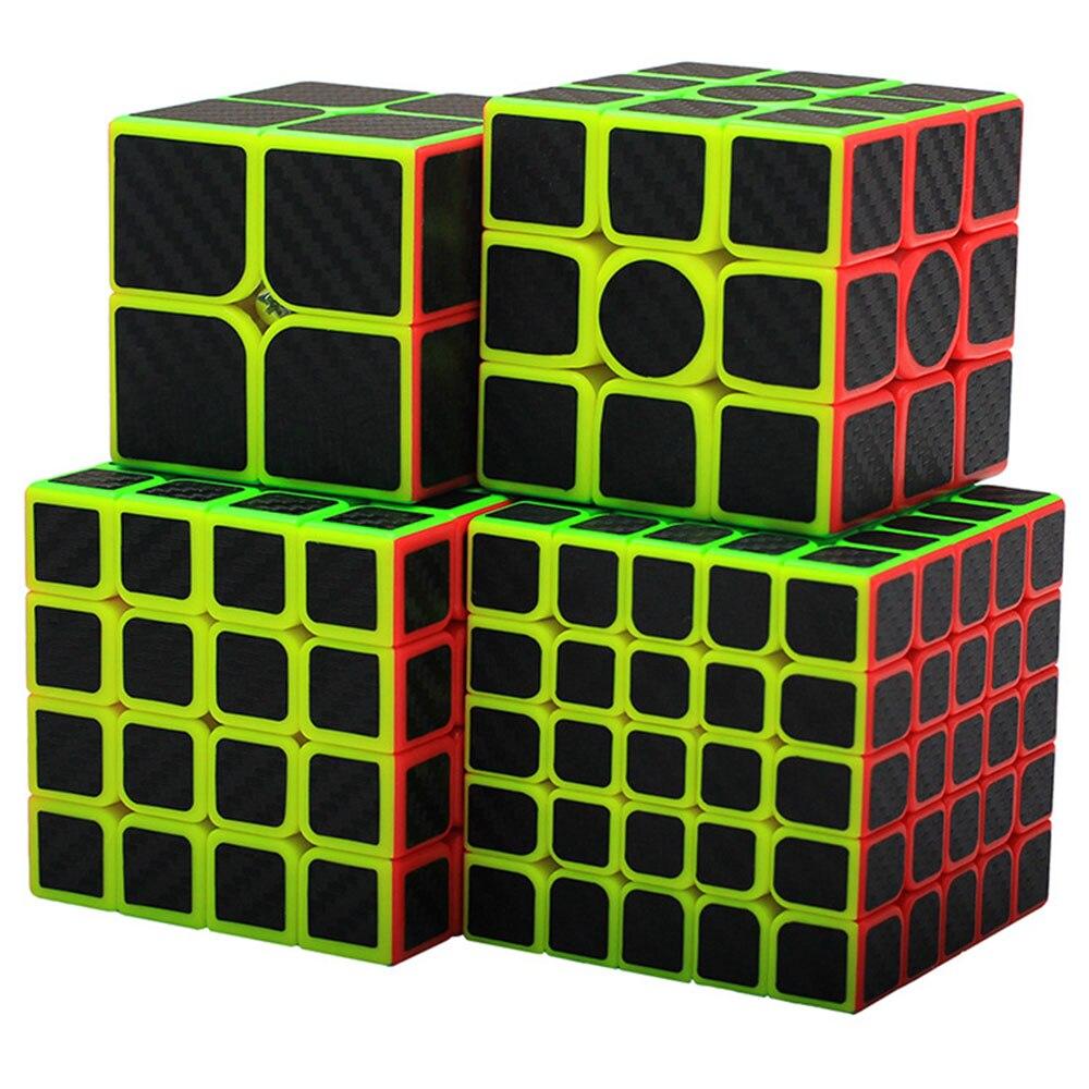 4 pièces Zcube Cube chevalier noir Set 2x2x2 3x3x3 4x4x4 Cubes magiques Puzzle Speed Cube jouets éducatifs cadeau pour enfants enfants - 6
