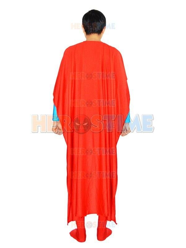 Traje azul Superman Spandex de cuerpo completo traje zentai de - Disfraces - foto 5