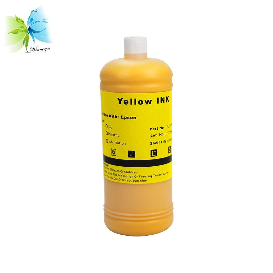 Winnerjet 4 Colors 1000ml Bulk Dye Ink for Epson Stylus WF 3520 WF 3530 WF 3540 WF 7010 WF 7510 WF 7520 Printer in Ink Refill Kits from Computer Office