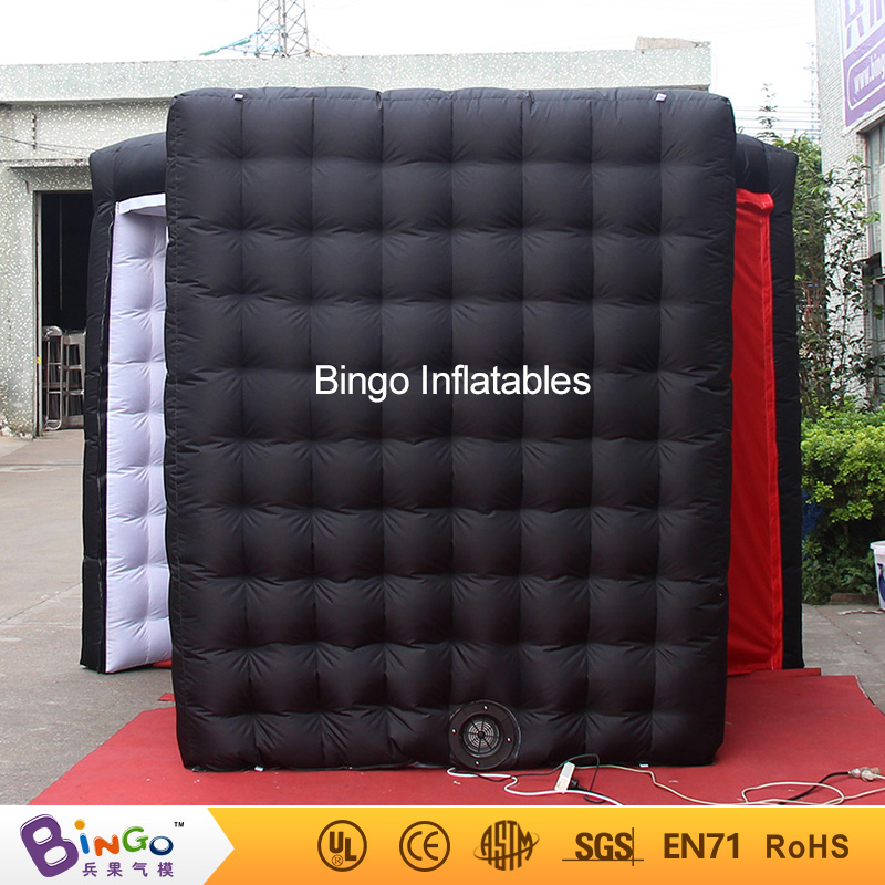 GOOD QUALITY 3.4X3X2.4MH inflatable black photo booth balloon white interior tent toy personalized for advertising photo shootGOOD QUALITY 3.4X3X2.4MH inflatable black photo booth balloon white interior tent toy personalized for advertising photo shoot