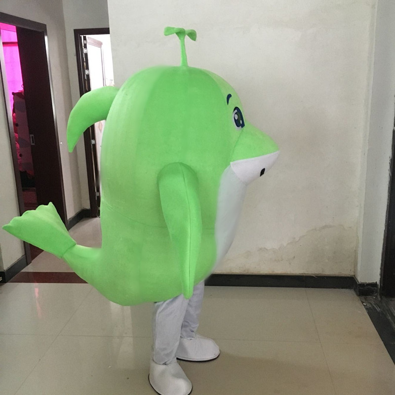 New Hot Sale Green Dolphin Fancy Dress Party Dress Adult Character Halloween Cosplay Mascot Costume in Mascot from Novelty Special Use