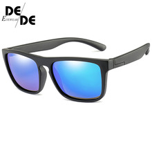 New Fashion Kids Polarized Sunglasses Brand Design Boys Girls Square Sun Glasses UV400 Child Shades Eyewear