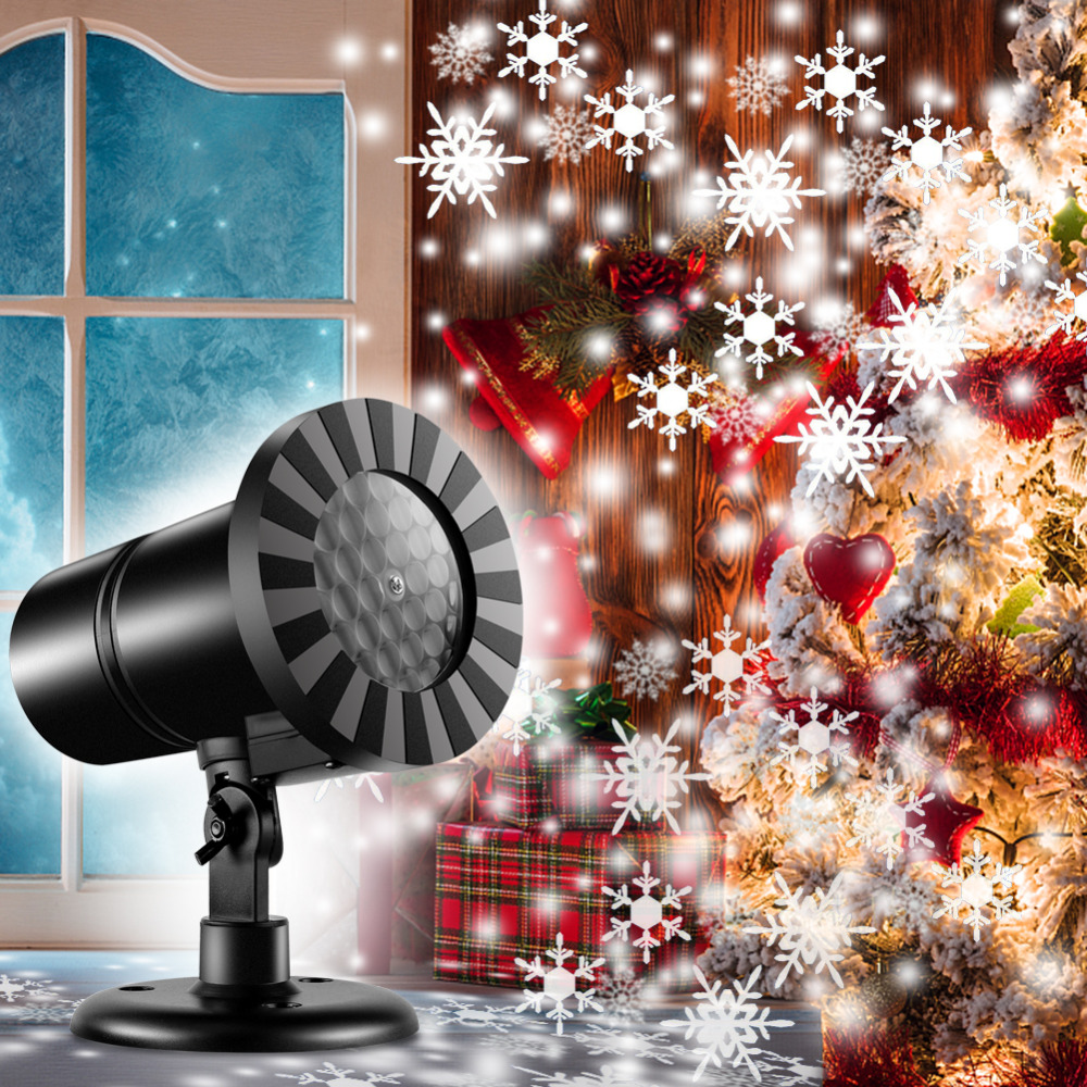 Waterproof Christmas Laser Snowflake Projector LED Dynamic Snowflake Effect Light Outdoor Garden Projector Lamp Xmas Projector купить в Москве 2019