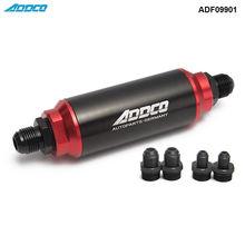 40 микрон черный и красный Встроенный топливный фильтр и крепление AN10 AN8 AN6 Универсальный Высокий Поток TURBO ADF09901