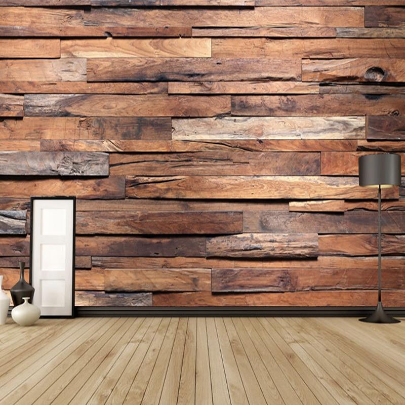Online get cheap dark wood wallpaper for Cheap brick wallpaper