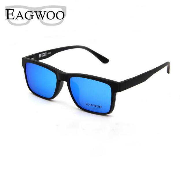 Imán Cuadrado Gafas de Miopía Anteojos Spectacle Prescription Marco Óptico Borde Completo gafas de Sol Antideslumbrante Anti UV 760062