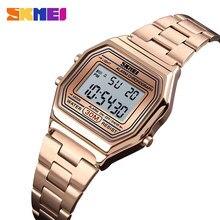 SKMEI יוקרה נשים שעון דק רצועת שעונים מקרית זהב שעוני יד 30 מטר עמיד למים גבירותיי שעון Relogio Feminino 1415