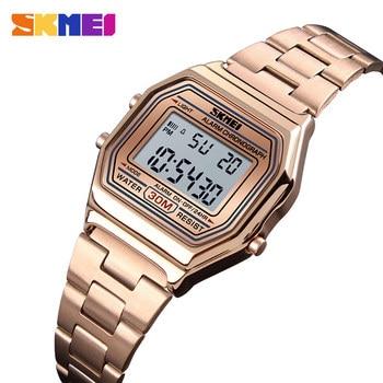10686e49a097 SKMEI de lujo mujeres reloj Correa delgada relojes Casual reloj de oro 30  Metro impermeable Relogio Feminino 1415