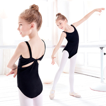 Black Gymnastics Leotard Girls Kids Ballet Dance Leotards Children Sleeveless Camisole Bodysuit