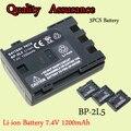 Alta Capacidad 3 UNIDS BP-2L5 Batería Para Cámara 7.4 V 1200 mAh Batería de Repuesto Para Canon BP 2L5