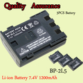 High Capacity 3PCS Battery For Camera 7.4V 1200mAh BP-2L5  BP 2L5  Replacement Battery For Canon