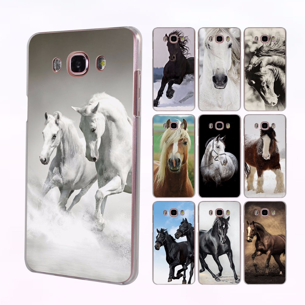 Running Horse clydesdale horse Style transparent clear Case for Samsung Galaxy J3 2016 J5 2017 J7 Prime J1 J510 J710