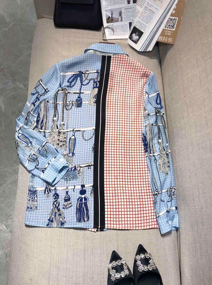 Luxe Chemises Vêtements Al0128 Femmes De Mode Design Partie Style Blousesamp; Européenne Piste 2019 y80wvnONm