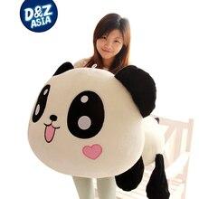 Lovely Lying down plush panda 1pcs 1# 55cm giant panda plush doll toys plush kung fu panda