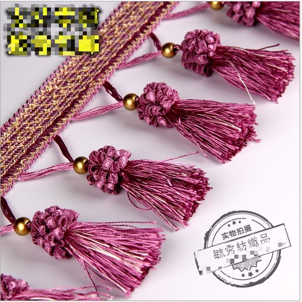 Luxry Crystal Beaded Lace Ribbon Sewing Lace Trim