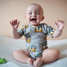 цены на summer newborn baby romper unisex cartoon boys baby clothing cotton short sleeve jumpsuit toddler girls clothes infant rompers в интернет-магазинах