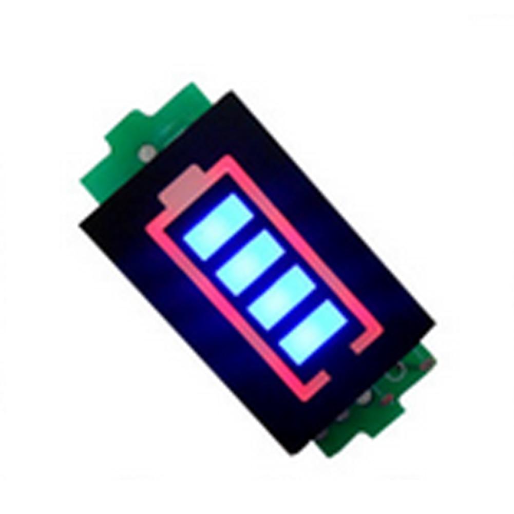 3.7-16.8V Lithium Battery Capacity Indicator Charge Tester 4 Segment LED Display