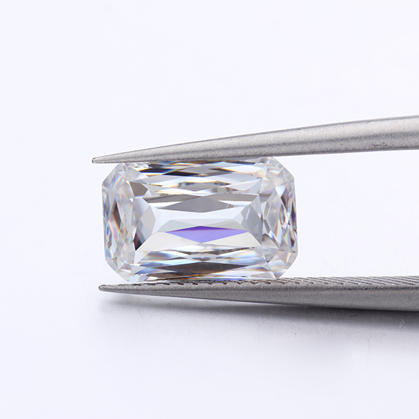 Moissanites Diamond EF Color White 6*8mm Criss Emerald Cut Moissanites Loose Gemstone for Engagement Rings for Jewelry Making