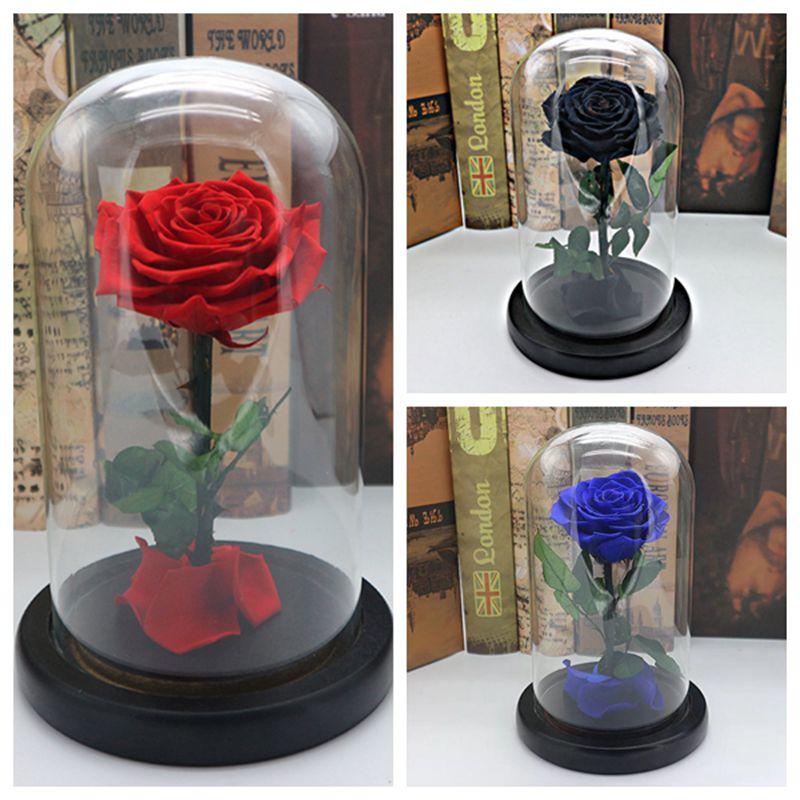 KiWarm навсегда Роза в Стекло цветок праздничный сохранились бессмертный свежие розы в Стекло уникальный 3 цвета как День святого Валентина по...