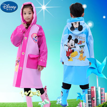 Disney Raincoat for Children Cartoon  Frozen minnie mickey Kids Girls Rainproof Poncho Boys Rainwear Rainsuit school