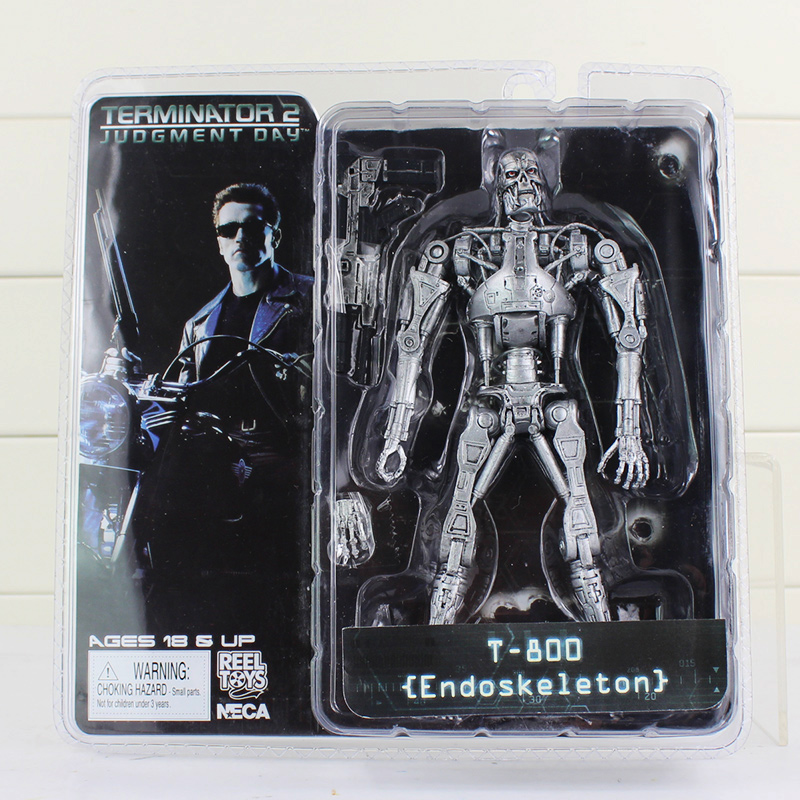 NECA The Terminator 2 Action Figure T-800 ENDOSKELETON Classic Figure Toy 718cm free shipping neca the terminator 2 action figure t 800 cyberdyne showdown pvc figure toy 718cm zjz001