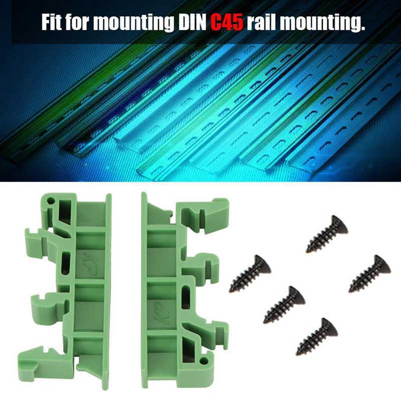 Tahan Lama 10 Set 35 Mm PCB Din C45 Rel Adaptor Papan Sirkuit Bracket Pemegang Carrier Taman Rumah Alat