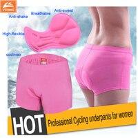 Anti Bacteria Bike Shorts Women Wholesale Pink 3D GEL Padded Bicycle Cycling Shorts Women Bermudas Ciclismo