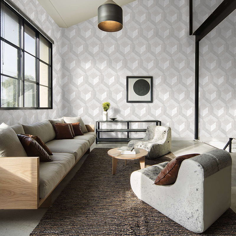 Beibehang moderne minimaliste non-tissé géométrique papier peint salon chambre café TV fond mur ingénierie 3d papier peint