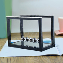 1PCS Classical Mechanics Toys Newton's Law Of Physics Classic Pendulum Ball Pendant Balls Bottom With Mirror