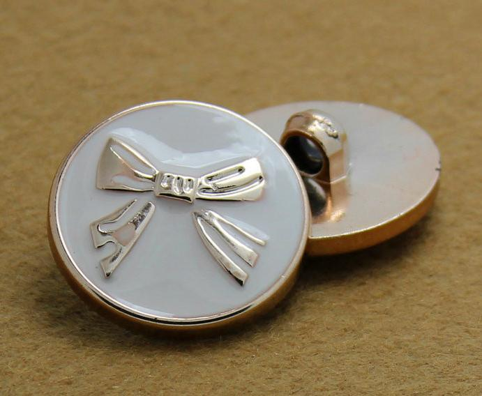 Plastic plating rose golden White butterfly sweater Button coat shank buttons 200pcs/lot free shipping