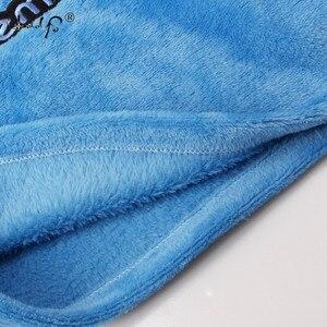 Image 4 - Herbst Und Winter Frauen Pyjamas Sets Dicke Warme Korallen Samt Anzug Flanell Langarm Weibliche 2PCS Kätzchen Druck Hosen nachtwäsche