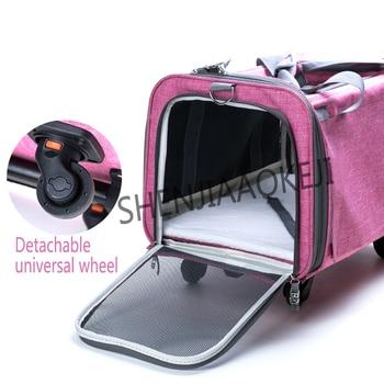 Detachable pet trolley case Dog out bag Portable car portable cat bag Pet shoulder bag pets under 10kg 1pc
